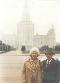 Mr. & Mrs. Fox at Moscow State University, 1988